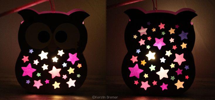 Eule Laterne für den Schneideplotter ♥ von kerstinbremer.de. So awesome! Owl lantern ♥ #cutfile #svg #diy