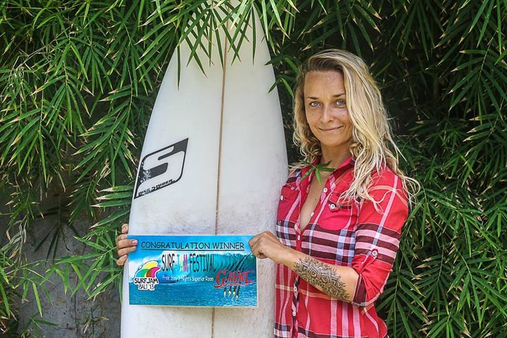 Surfer Girl in competition.. say thank to G-Land Joyos Surf Camp, East Java, Indonesia
