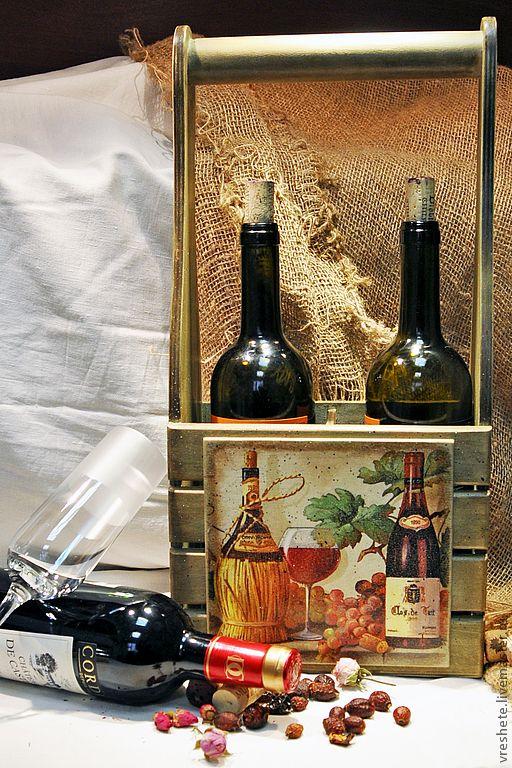 короб для вина декупаж - Поиск в Google
