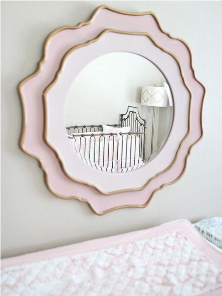 MILAN'S NURSERY Mirror Pink Blush Capri baby girl design gold