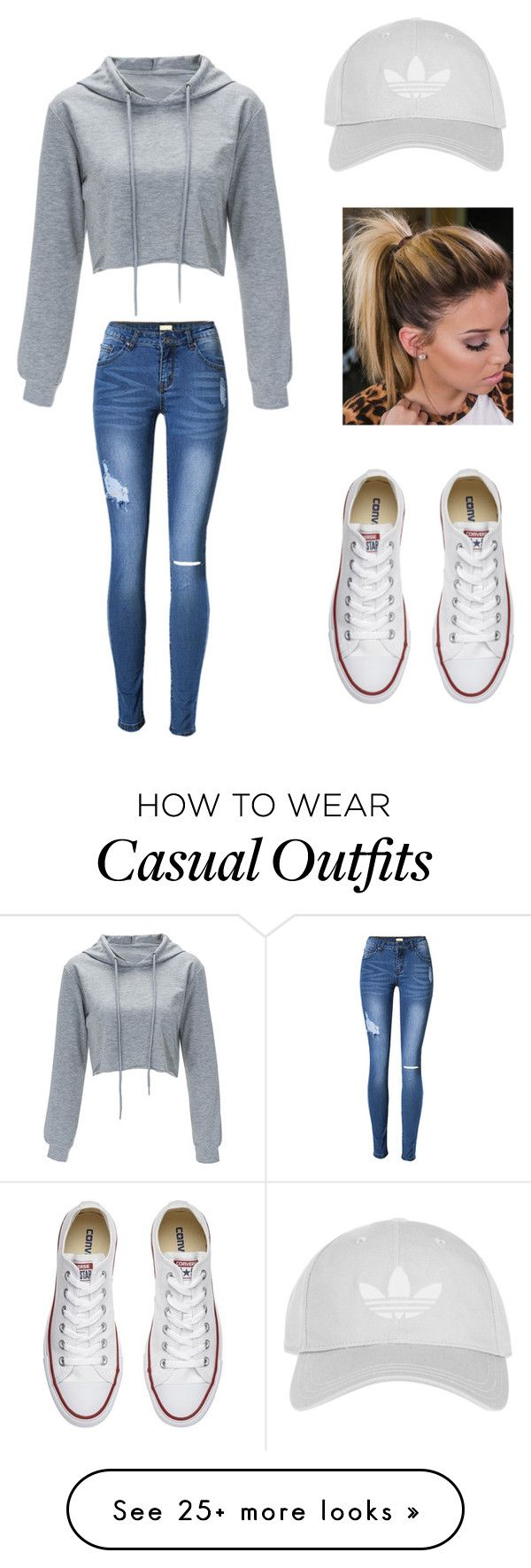 """""""Cute and casual"""" by emilyjoyrussell on Polyvore featuring Converse and Topshop"""