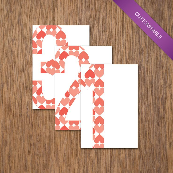 Simple Love - Table Numbers | DIY Printable by myPaperCraftsau on Etsy | See the complete set here - http://etsy.me/1c8IXWH