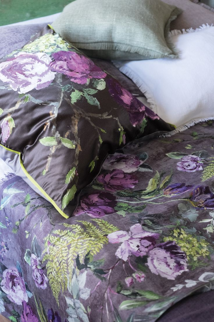 Designers Guild Tulipani fabric and cushion