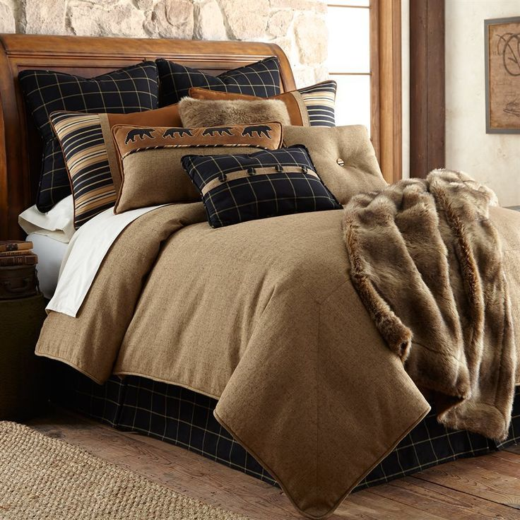Ashbury Tan Bedding Set - Luxury Lodge Bedding