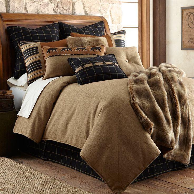 Ashbury Tan Bedding Set - Luxury Lodge Bedding