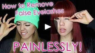 How to Remove False Eyelashes Safely and Painlessly