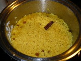 South African Yellow Rice With Cinnamon and Raisins