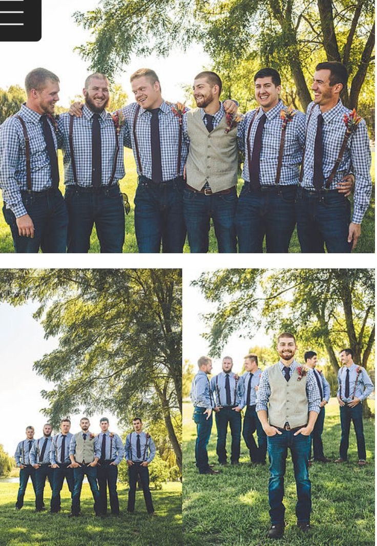 Rustic Groom and Groomsmen Outfits