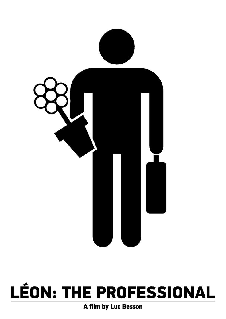 "Pictogram Movie Poster ""Leon. The Professional"". Tribute to Viktor Hertz."