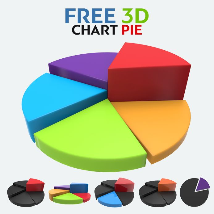 Free 3D Chart Pie, #3D, #Chart, #Free, #Graphic #Design, #PNG - pie chart templates