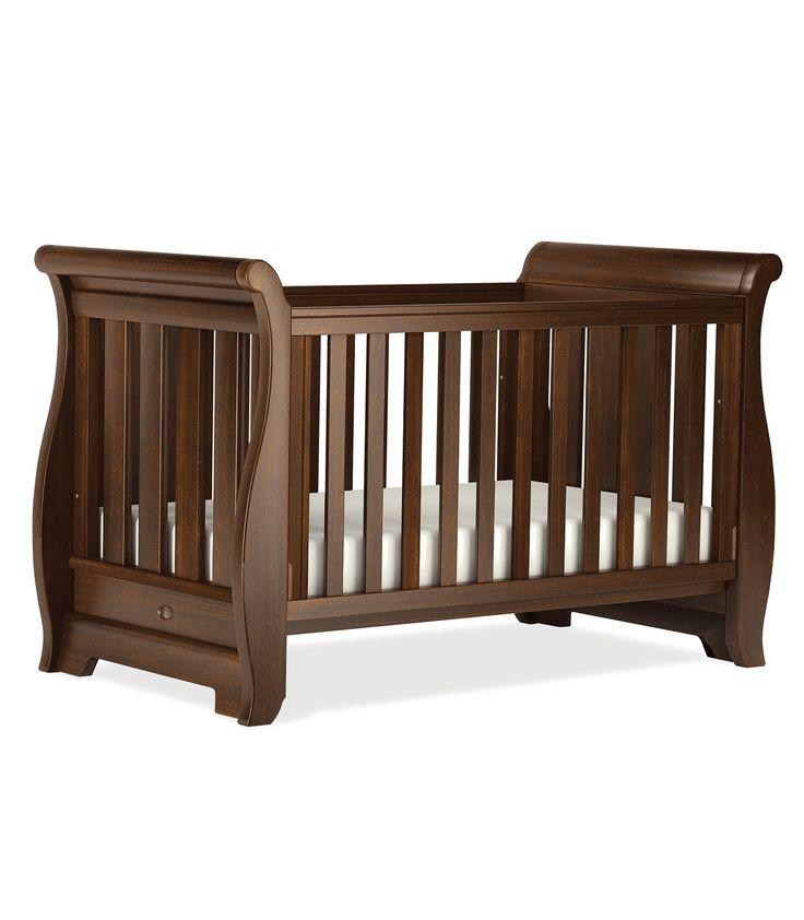 Boori New Style Sleigh Cot Bed English Oak Kiddicare