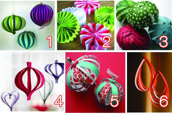 Décoration de noël en papier (boule, fleur, coeur) DIY, tutoriel gratuit. Christmas paper ornament