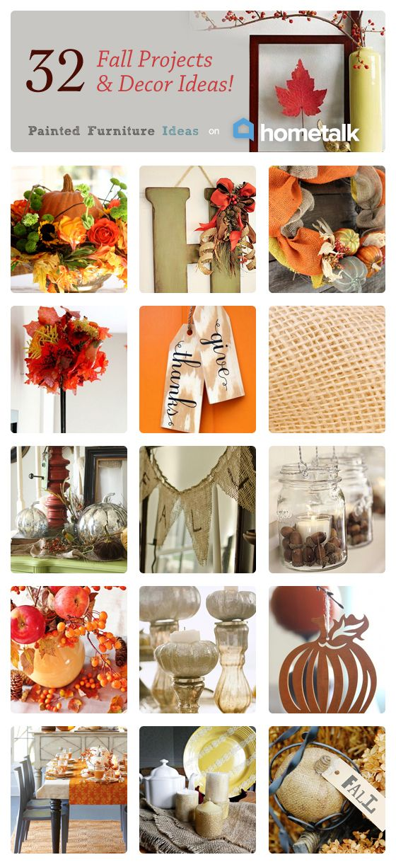 32 Fall Projects and Decor Ideas