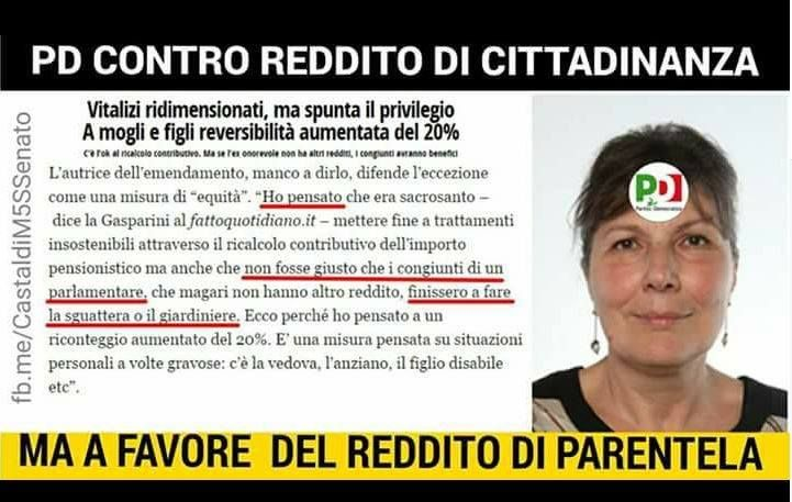 """il popolo del blog,notizie,attualità,opinioni : La firmataria Gasparini (PD): """"Ingiusto che i cong..."""