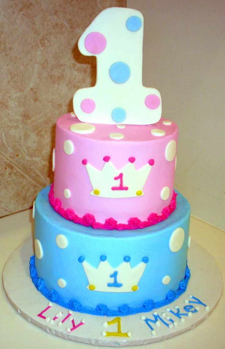 Cake Ideas For Twins First Birthday : 1st Birthday Prince/Princess Twins 1st Birthday Ideas ...