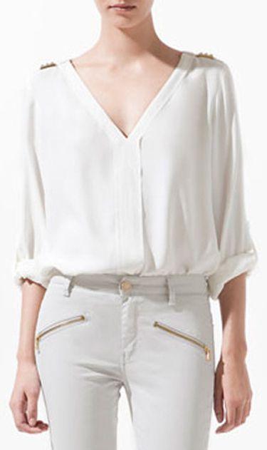 Shoulder rivets short shirts 8557