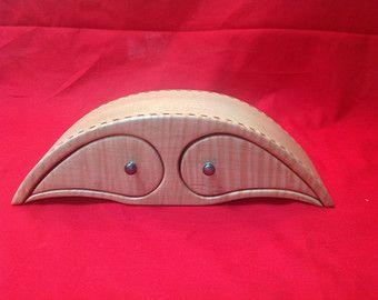 Caja de joyería de encargo de arce hecha a mano Sierra de cinta