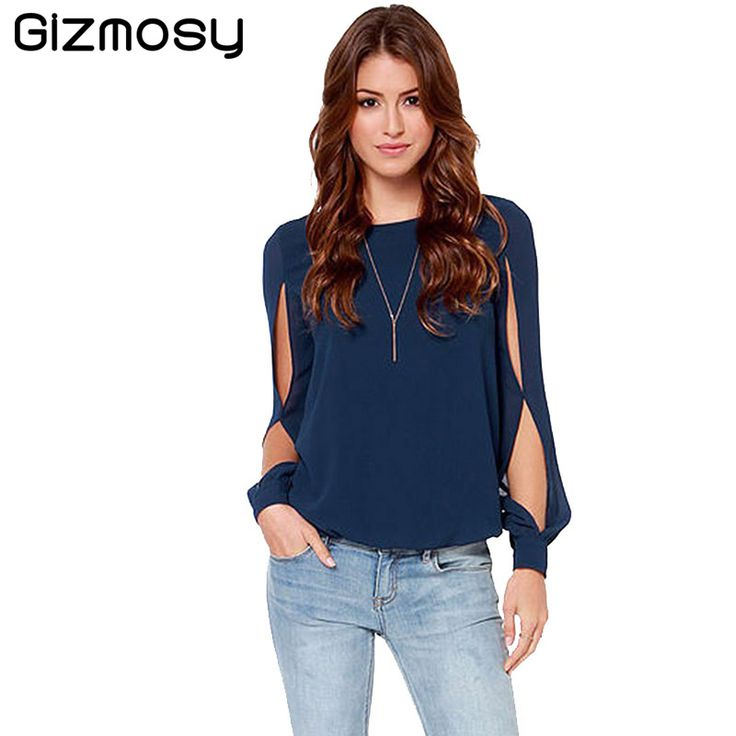 2017 New Office Women Shirts Blouses Pink Purple Elegant Ladies Chiffon Blouse Short Long Sleeve Womens Tops Chemise Femme BN088
