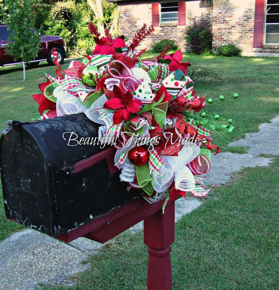 Christmas Swags Decorations: Best 25+ Christmas Mailbox Decorations Ideas On Pinterest