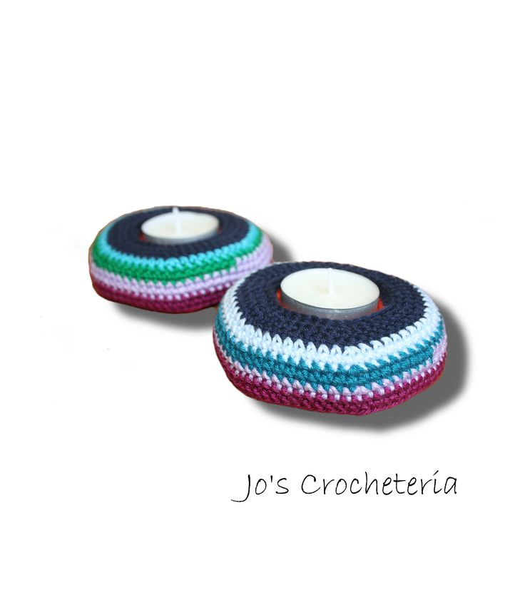 Free Crochet Pattern Candle Holder by Jo's Crocheteria #freecrochet #freecrochetpattern #crochetpatternsfree #crochetfreepattern #crochetdesigns #easycrochetpatterns #patternsforcrochet #freeeasycrochetpatterns #allfreecrochet #crochetideas #simplecrochetpattern