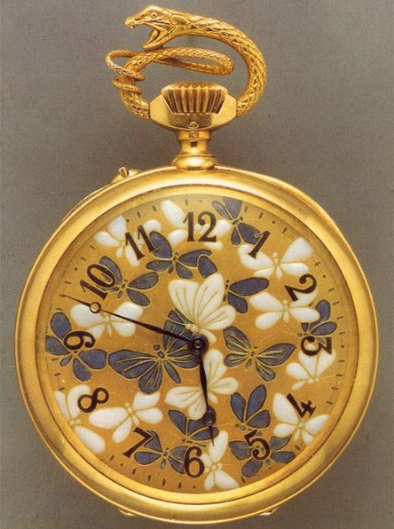 Rene Lalique pocket watch. Not crazy about gold, but this is still a beautiful watch.