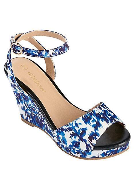 Ikat Print Wedge Sandals  #Kaleidoscope #holiday #jetsetting