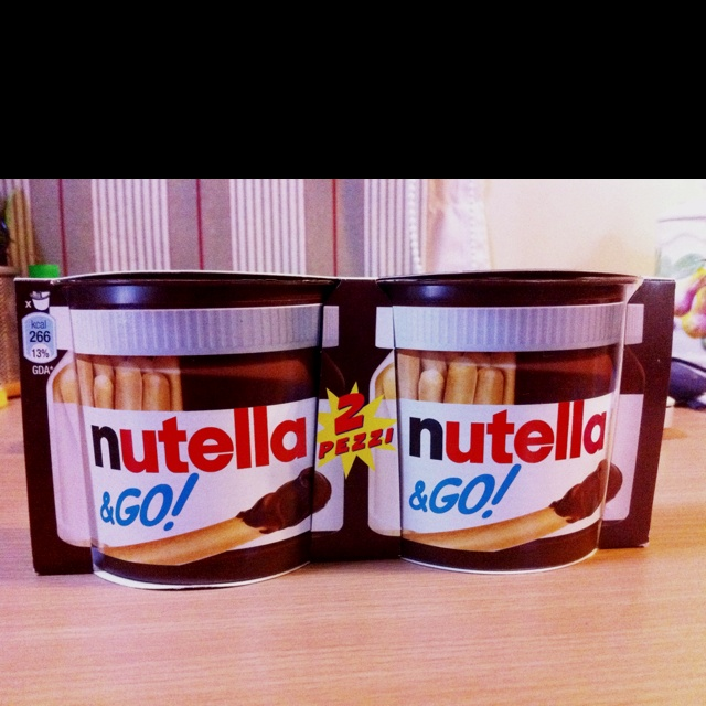 somebody had pinned pictures of nutella products few days ago and i loved this one in particular.. i just had to get it! thanks to Mirta :D i got it today! <3 Nutella