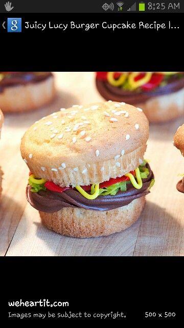 Burger cupcakes | Mom hop's cupcakery | Pinterest | Burger cupcakes ...