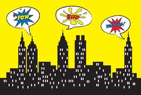 Free printable city background comic book inspired ...