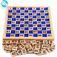 Montessori Onderwijs Houten Speelgoed 1-100 Digit Cognitieve Math Toy Teaching Logarithm Versie Kid Vroeg Leren Gift