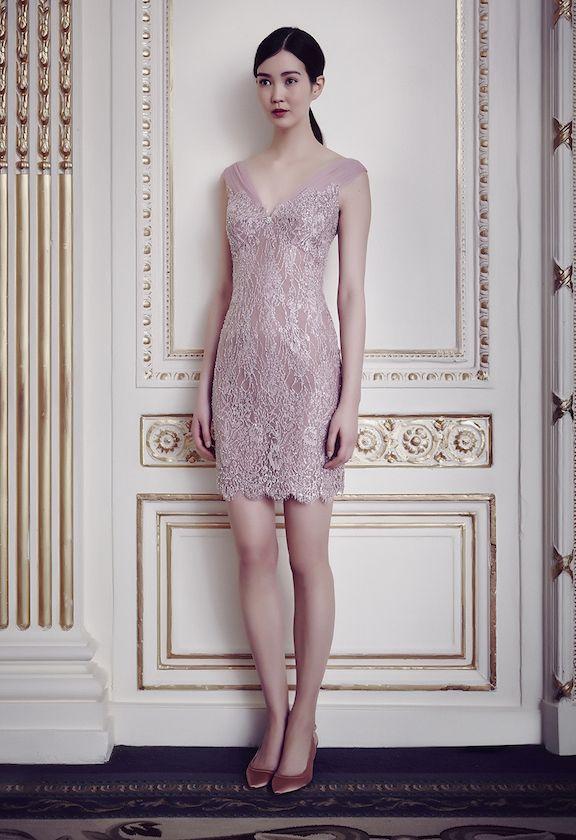 Jenny Packham AW 2014 Cruise blush pink dress