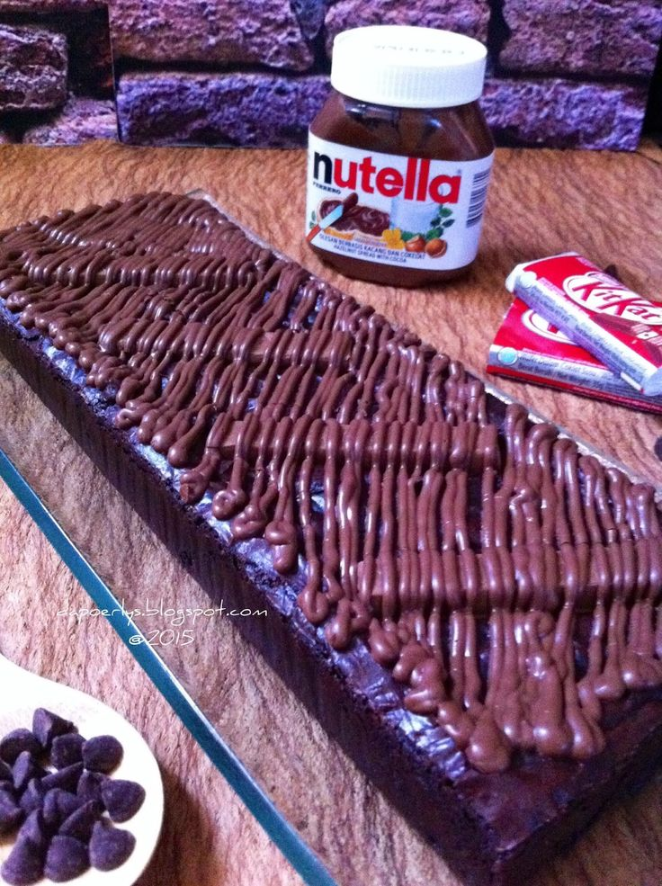 Nutella Kit Kat Brownies ~ extreme fudgy