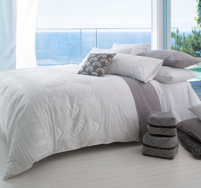 Florence White KAS WHITE  Features: Cotton percale 250 thread count - #quiltcovers