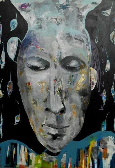 """Saatchi Art Artist RENATA KACOVA; Painting, """"UNIVERZUM"""" #art"""