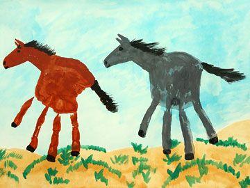 Handabdruck – Pferde