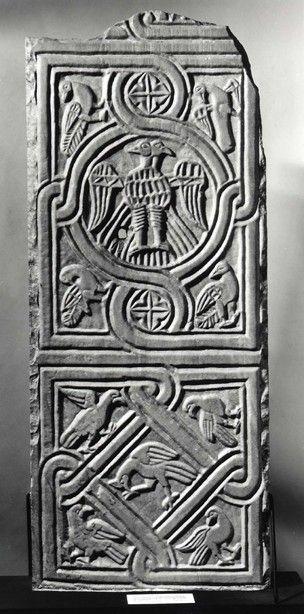 Marble panel (obverse), c. 1200, found in SE Anatolia region. British Museum.