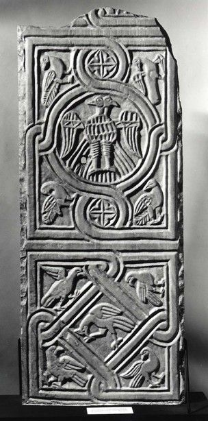 Marble panel (obverse), c. 1200, found in SE Anatolia region. British Museum.