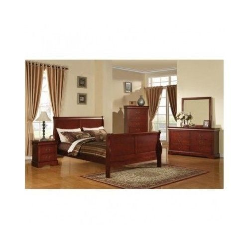 King Bed Headboard And Footboard Furniture King Size Bed Rails Sleeping Bedroom #LouisPhillipeIII #Traditional