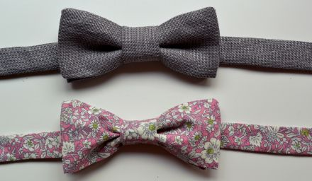 **Pre-tied bow tie pattern - easy, uses snap in back.