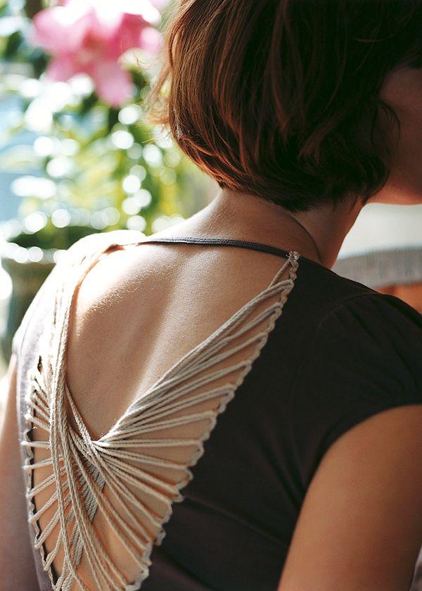criss cross t shirt diy crafts fashion yarn