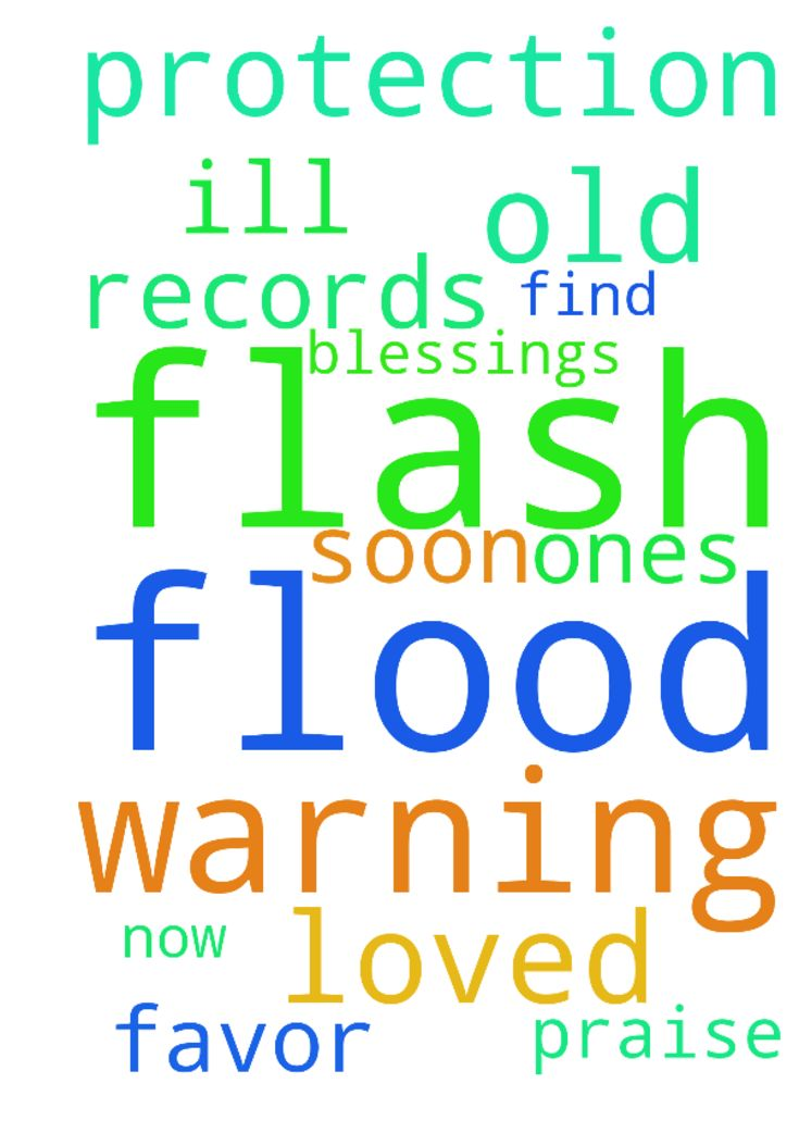 Praying for all just had a flash flood warning and - Praying for all just had a flash flood warning and been so ill. Need to find old records and loved ones need protection out there now. Lord we praise You for all Your blessings and favor soon  Posted at: https://prayerrequest.com/t/wDl #pray #prayer #request #prayerrequest