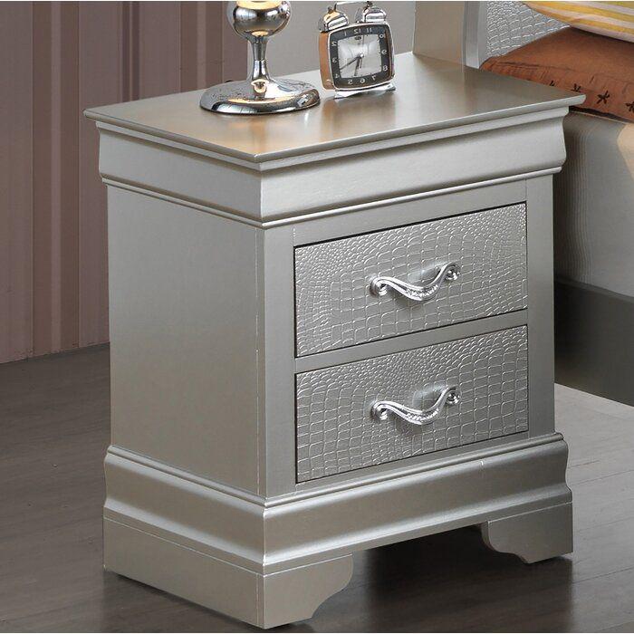 Mercer41 Paignton 2 Drawer Nightstand Reviews Wayfair Bedroom Night Stands Bedroom Closet Design Nightstand