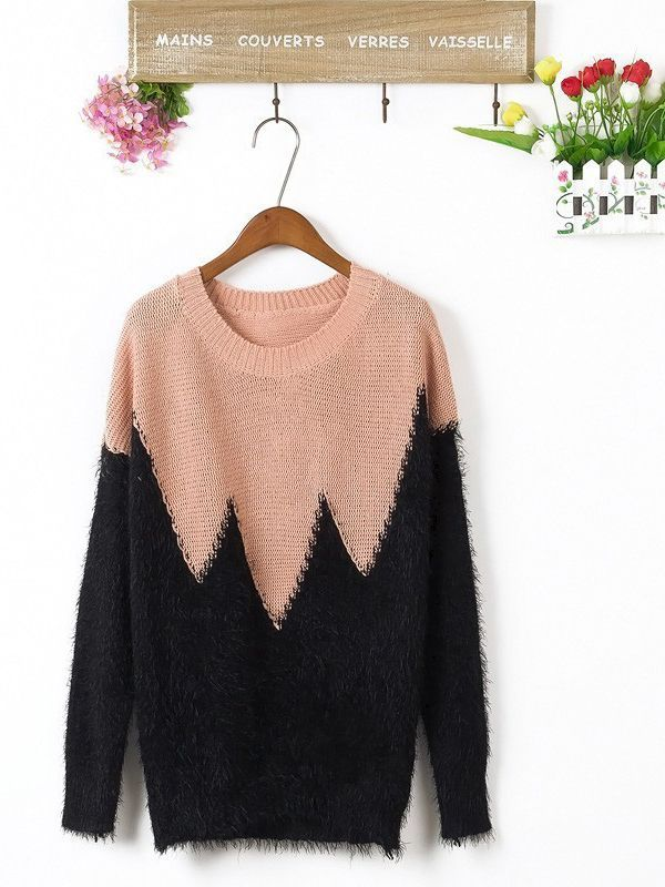Fashion Straight Round Neck Embroidery Sweater
