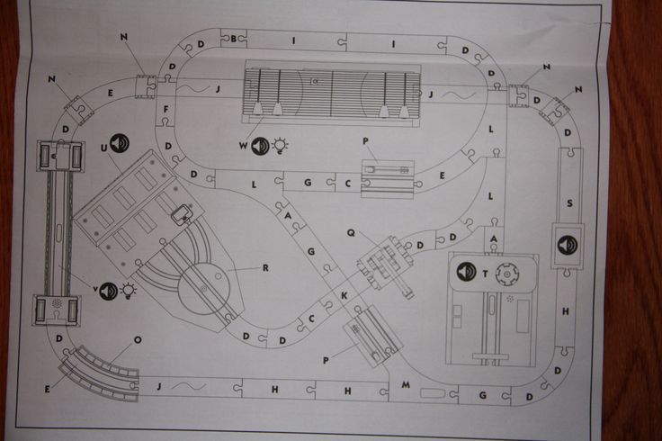 Imaginarium City Central Train Set Assembly Instructions - Layout