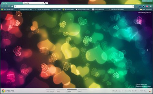 Colourful Abstract Love Background Google Chrome Theme