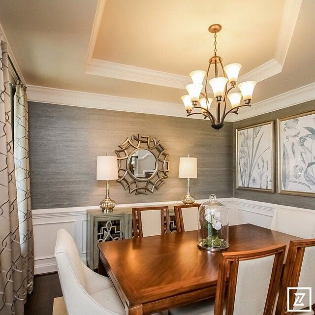 "Love the wallpaper in this dining room. ""2014 Fredericksburg Area Builders…"