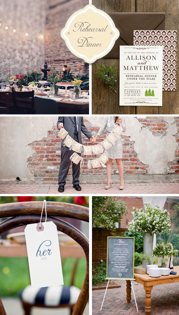 Rustic Outdoor Rehearsal Dinner Inspiration | WeddingWire: The Blog