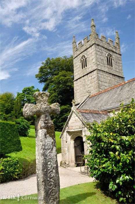 The church of St Hydroc which predates the house at Lanhydrock, Cornwall