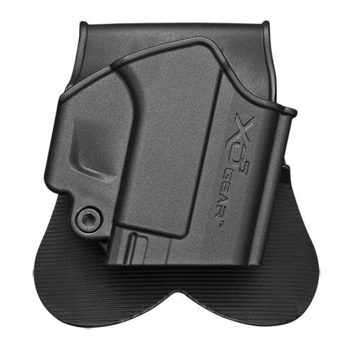 Springfield Armory XDS4500H XD-S Gear Paddle Holster Springfield Polymer Black - 83434 (SPRINGFIELD INC). This paddle holster from XD(S) Gear fits all XD-S pistols, in both 9mm and 45 ACP, with a 3.