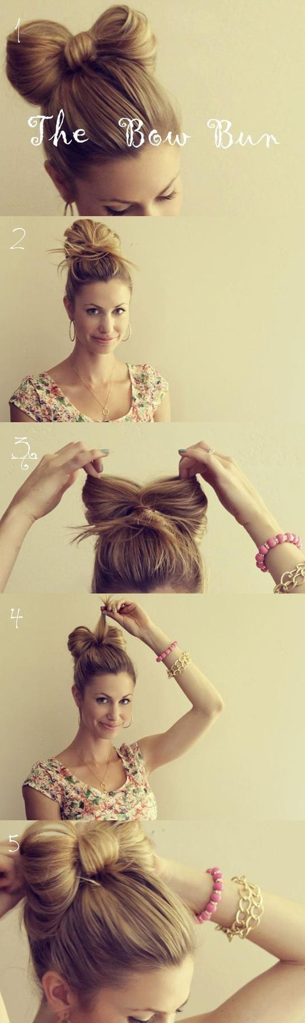 Easy Bun Hairstyles for Long Hair and Medium Hair42